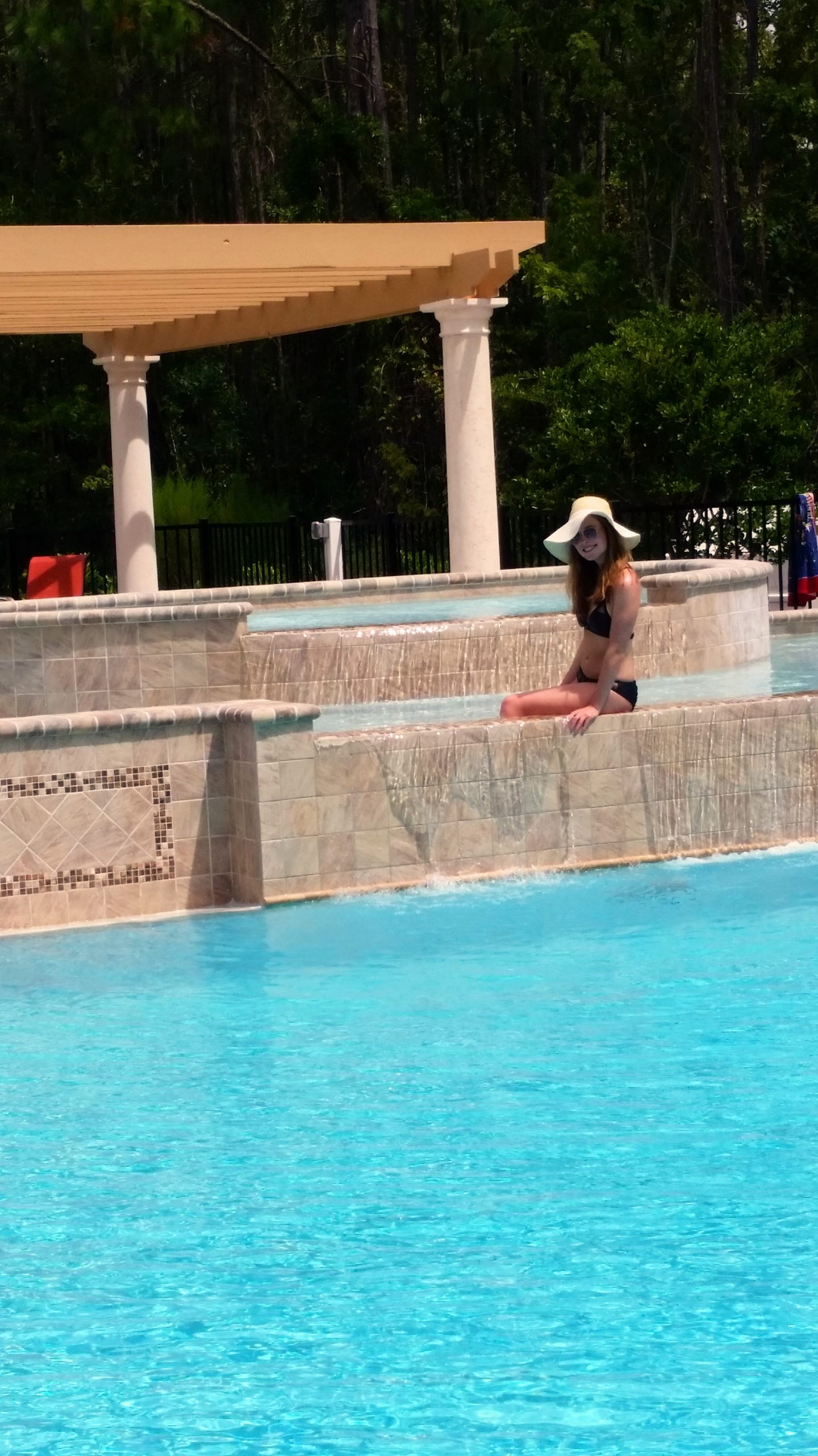 sitting pool