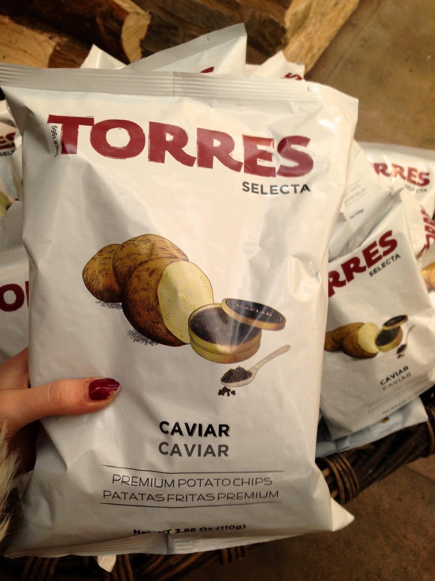 Caviar crisps