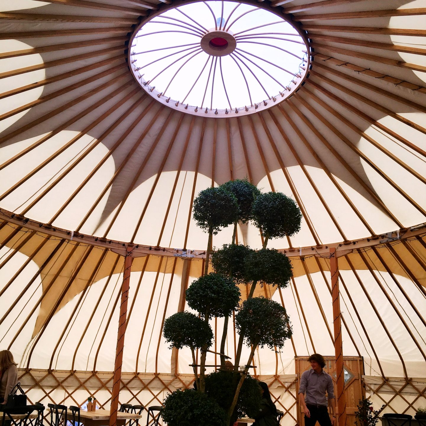 Almost-Alfresco Lunching: The Yurt at Nicholsons